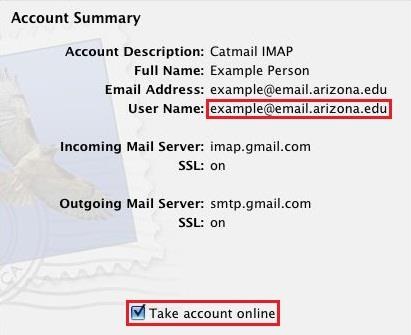 As the Outgoing Mail Security location perform the following: a. Check Use Secure Sockets Layer (SSL). b.