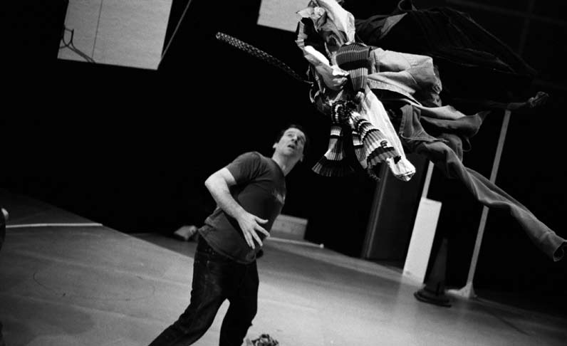 In rehearsal Journeys Telling Stories We began our rehearsal process by looking at simple crossings to explore how the basic action of walking across the square could tell a story.