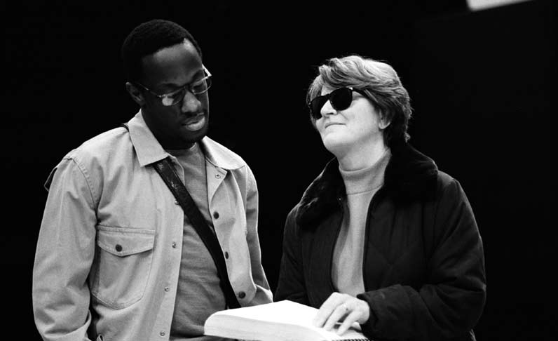 In rehearsal Technical Complexities Alongside the work on stage, the latter stages of rehearsals involved a series of complex technical challenges.