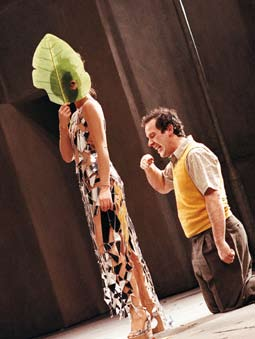 Putting the performance on stage Entering the Theatre When we entered the Lyttelton theatre to begin our technical rehearsals, the company were faced with a new set of practical challenges.
