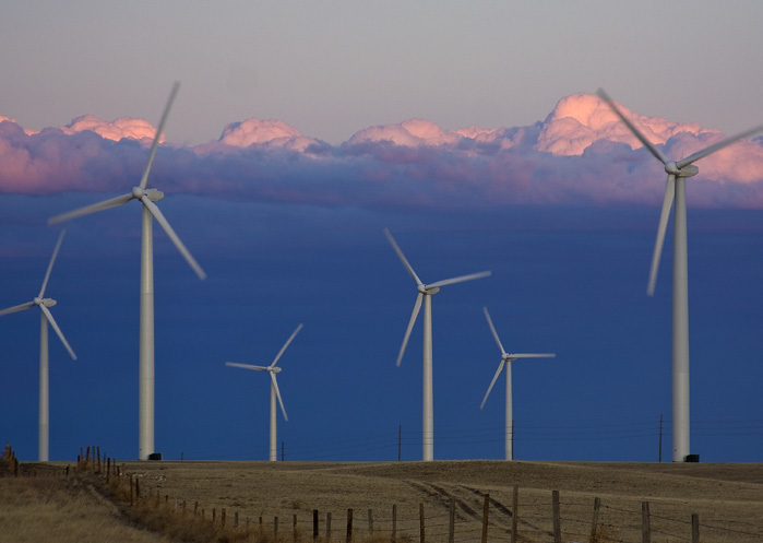 UCAR/Carlye Calvin Xcel Energy s Cedar Creek Wind Farm near Grover, CO, helped the utility generate 57 percent of its electricity from wind one night in spring 2012 a U.S. record.