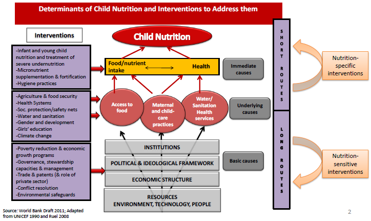 HOW WE WILL WORK behaviour change communication for young child feeding, treatment for severe acute undernutrition, and treatment of infections.