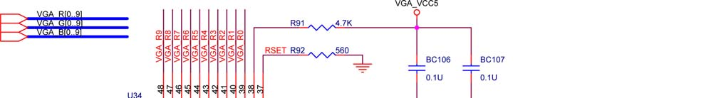 Figure 4.11. VGA circuit schematic.