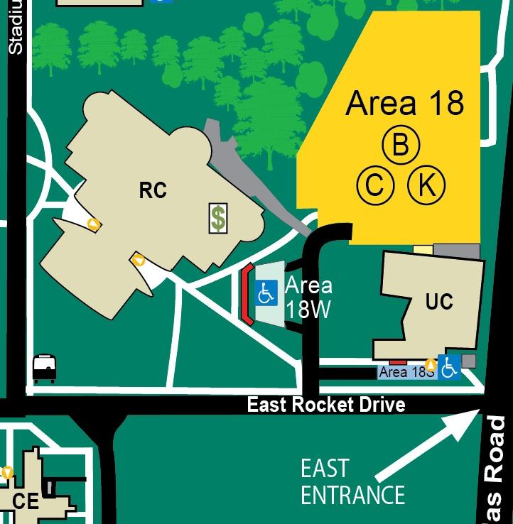 Para-Transit Pick Up Zones 16 Student Recreation Complex (RC)
