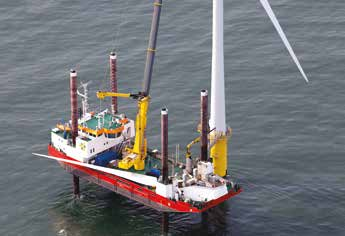 Figure 9: Examples of jack-up vessels used in the O&M phase of offshore windfarms COURTESY OF SEAJACKS COURTESY OF DBB JACK-UP is confirmed.