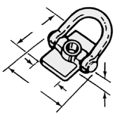 "For example, use a 3/4"" bolt with a 3/4"" Swivel Lifting Plate, do not use a 3/4"" bolt with a 1"", 1-1/4"" or 1-1/2"" T12 Swivel Lifting Plate All plates must be securely fastened to the slabs."