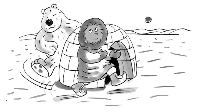 25 Polar Bear Chase How to Play: For this game, the leader chooses one child to be a polar bear and another to be an Eskimo who s being chased.