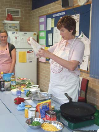 Taking into account the results from the school audit, and the popularity of shows such as MasterChef, BNPS offered a series of Healthy Cooking and lunch box classes for parents.