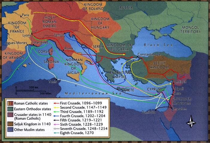 The crusades changed Europe more than they changed the Holy Land.
