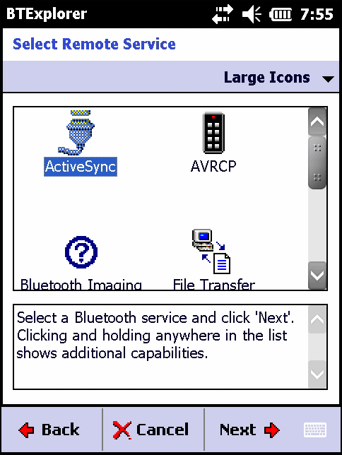 Bluetooth 7-23 1. Ensure the Bluetooth Phone is discoverable and connectable. 2. Ensure that the Dial-Up Networking profile is enabled on the MC67. See Profiles on page 7-41 for more information. 3.