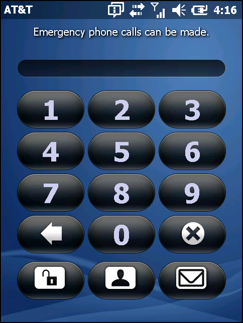 Figure 2-15 Simple PIN Lock Screen Enter the password to un-lock the device.
