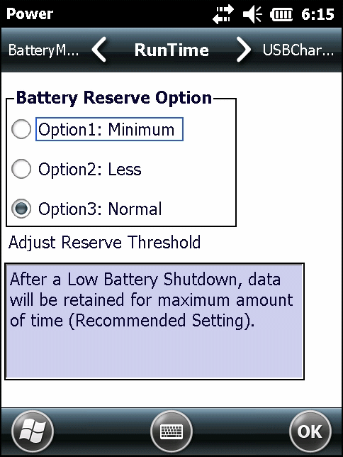 data can be retained. 1. Tap > Settings > System > Power > RunTime.