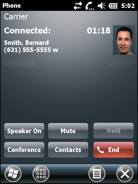 Making Calls 4-11 Figure 4-10 Call Swapping - Hold 3. Tap Hold on to place the first number on hold. 4. Enter the second number and tap Talk. Figure 4-11 Call Conferencing - Conferencing 5.
