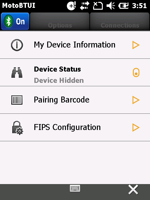 Bluetooth 7-5 MotoBTUI Application Use the MotoBTUI application to: Turn the Bluetooth radio on and off. See Turning the Bluetooth Radio Mode On and Off on page 7-6.