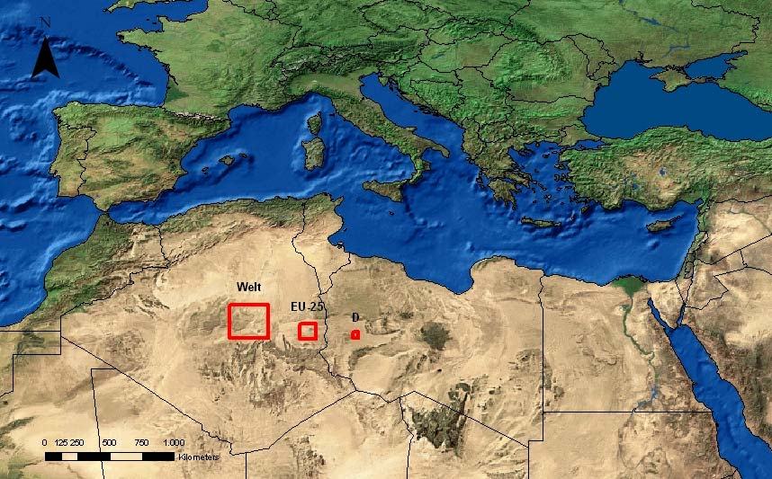 Electricity supply in Europe and North Africa renewable energies, which can be found in a respective country, and combine them all together to a well-balanced mix.