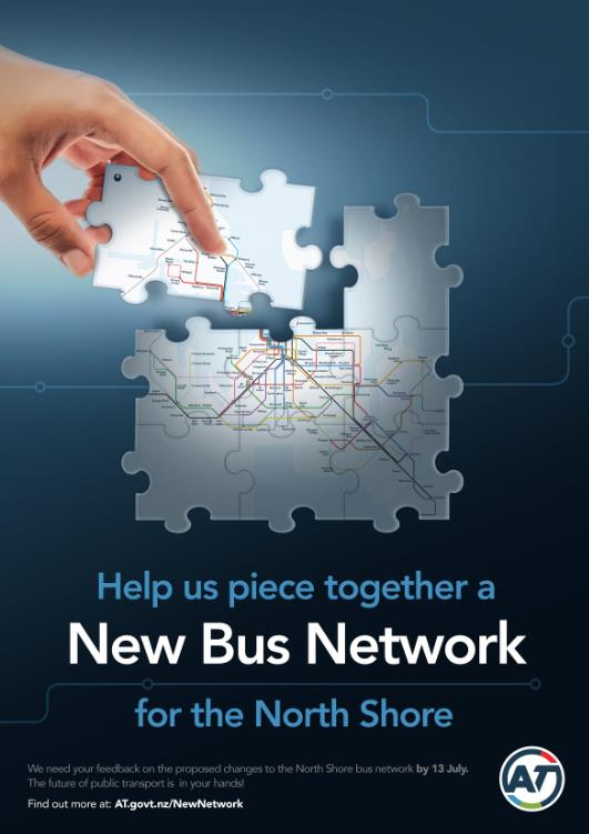 New Network Consultation North Shore 2 June to 13 July 2015 The materials for the New Network North Shore consultation are currently in market.