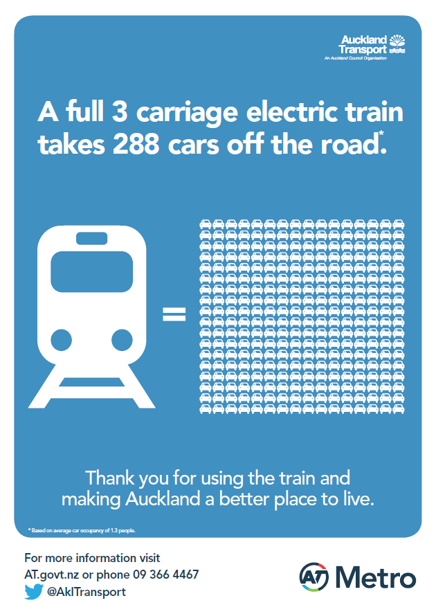 The campaign reminds people to be safe around trains and track, and educates about electric