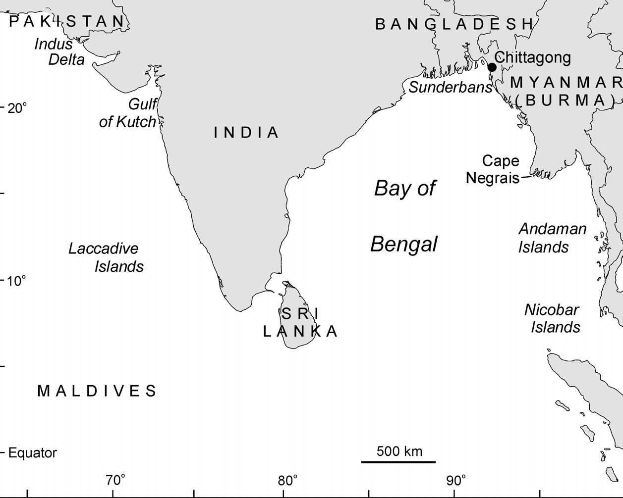 INDIA WITH THE ANDAMAN AND NICOBAR ISLANDS, AND SRI LANKA Chapter 3 India and Sri Lanka Distribution and Abundance Dugongs occur along the west coast of Sri Lanka, and in India in the Gulf of Kutch