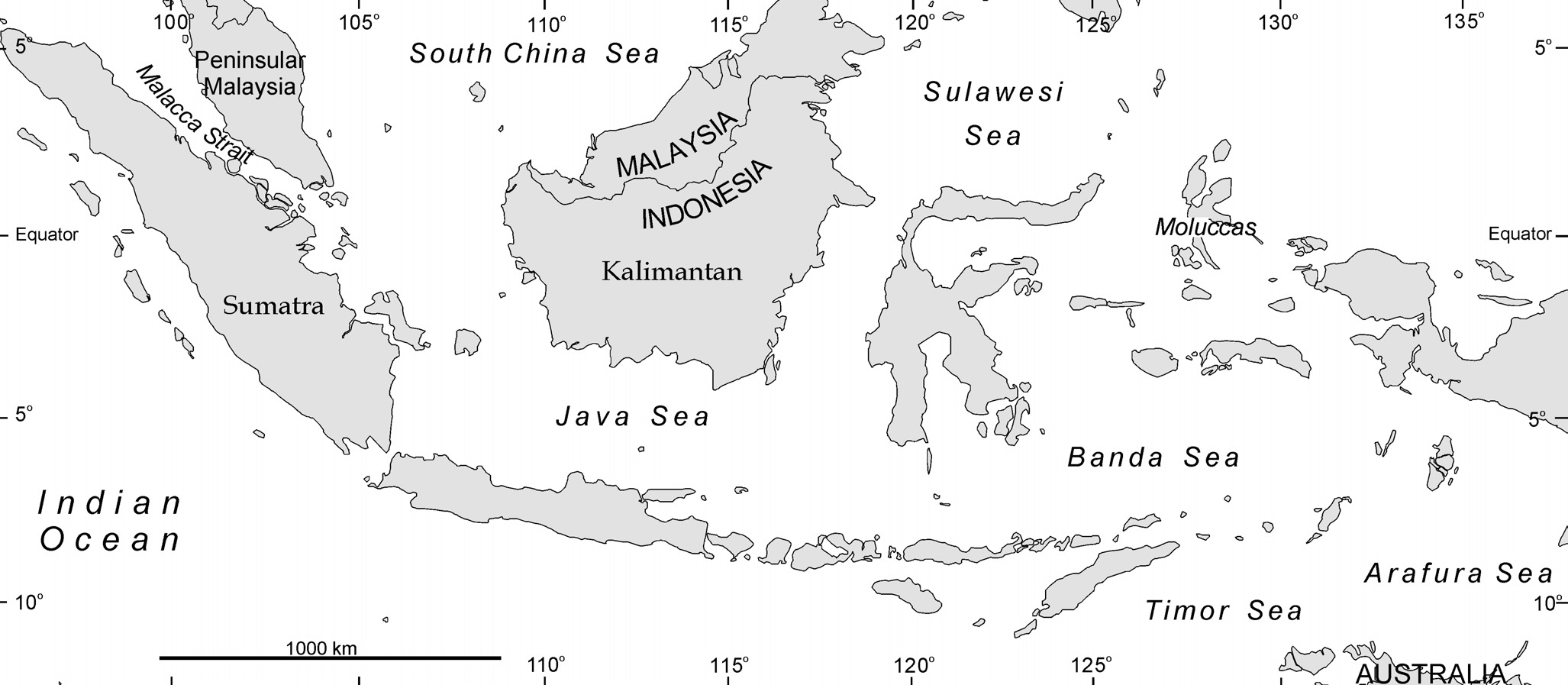 Figure 4.12 The Seas and Oceans of Indonesian waters. nutrients in rivers in crowded areas (SME 1996).