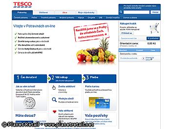 Major trends for 2012: e-commerce, franchising and market consolidation Tesco is supplying online shoppers from four hypermarkets in Prague.