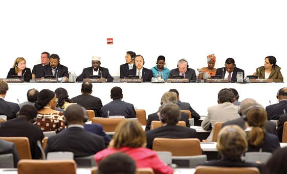 The President of the Somali Republic addresses a high-level meeting on the peace process in his country, held on the sidelines of the sixty-fifth General Assembly.