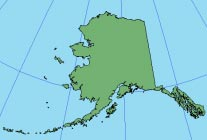ALASKA GRID The minimum scale factor is 0.997 at approximately 62 30' N, 156 W. Scale increases outward from this point.