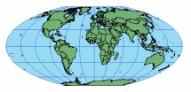MCBRYDE THOMAS FLAT-POLAR QUARTIC Useful only as a world map. Thematic maps of the world. PROJECTION PARAMETERS The central meridian is 0. This equal area projection is primarily used for world maps.