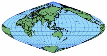 SINUSOIDAL of the projection is accurate. Distortion is reduced when used for a single land mass, rather than the entire globe. This is especially true for regions near the equator.