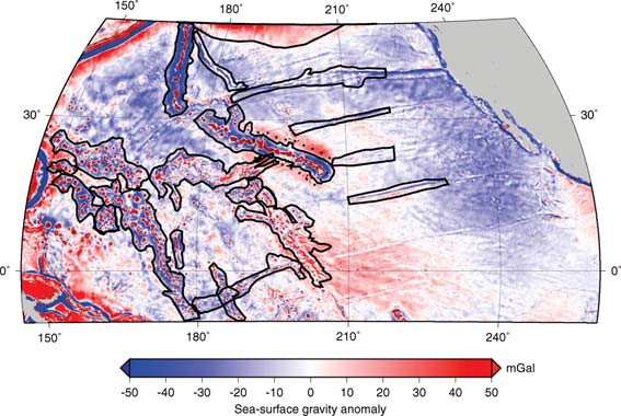 558 A. G. Crosby, D. McKenzie and J. G. Sclater Figure 4. Gravity anomalies in the North Pacific ocean from Sandwell & Smith (1997).