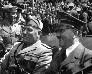 AMERICAN MILITARY HISTORY Hitler and Mussolini in Munich, ca.
