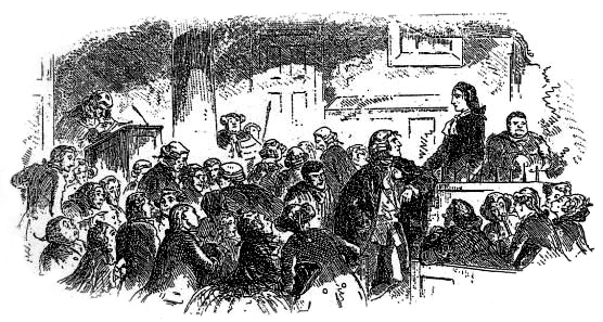 6. Dickens s novels often include one or more courtroom scenes. In the film, the courtroom scene is crucial.