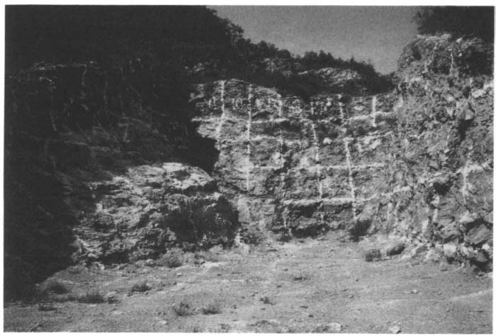 KWANG-CHIH CHANG Figure I.I. The site of Zhoukoudian, Beijing. The upper part of Locality i (The Ape-Man's Cave), marked for excavation, 1988. (Photograph by K. C. Chang.