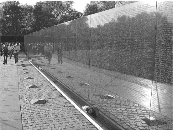 THE PRODUCTION OF HUMAN BEINGS Figure 3.2. Vietnam Memorial, Washington, D.C. Photograph Lee Bennett,Jr. I www.atpm.com monumental and explicit.