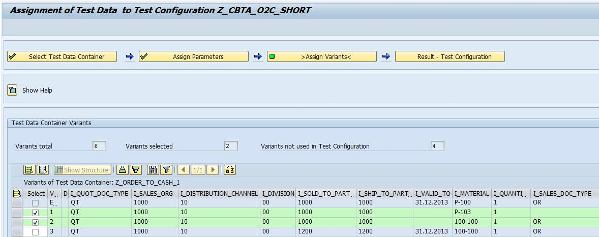 These parameter definitions are sent back from the test automation tool to the test configuration in SAP Solution Manager.
