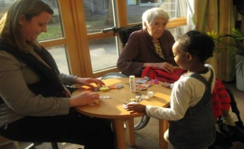 We take a multigenerational approach in everything we do, which includes welcoming grandparents, singing with residents at local elderly homes, supporting local volunteers and citizenship They