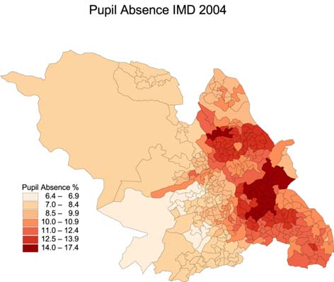 Chapter 2: Education 2.1 Pupil absence The Indices of Multiple Deprivation (IMD) records rates of pupil absence from school, for two periods of time.