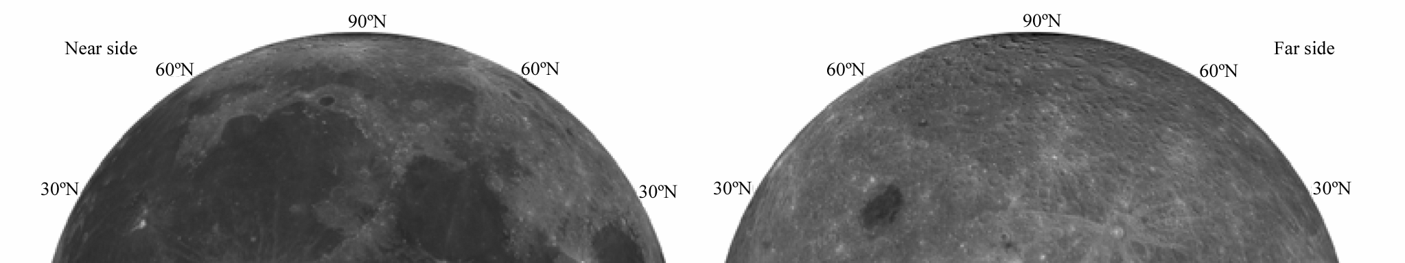 30 Chin.J.Geochem.(2014)33:024 044 Fig. 5. Distribution map of pyroxene in the lunar Mare Crisium region. Fig. 6. Distribution map of FeO in the lunar Mare Crisium region.