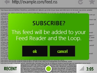 How do I subscribe to a feed? There s more than one way to subscribe to a feed. One method subscribes a single feed and the other subscribes a group of feeds.