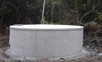 Hollow tile tanks have lost popularity mainly due to their price and tendency to leak. Another benefit of concrete tanks is that they can easily support a solid cover.