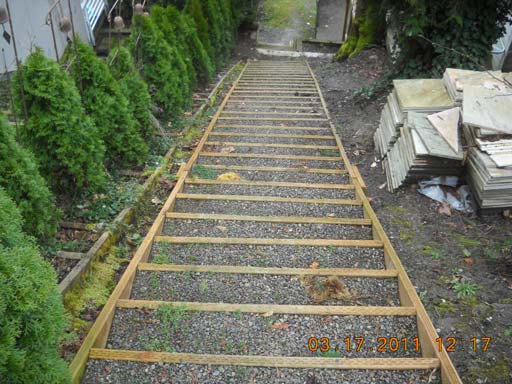 The new structures will be supported by pin piles to minimize the ground disturbance in the steep slope areas.