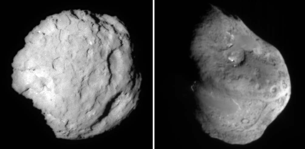 ICE IN THE SOLAR SYSTEM sublimation of ices near the surface during outgassing, leaving heavier, tar-like organics behind. The actual amount of ice in comets is still unknown.