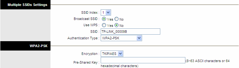 Figure 4-18 Encryption: Select the encryption you want to use: TKIP/AES, TKIP or AES (AES is an encryption method stronger than TKIP).