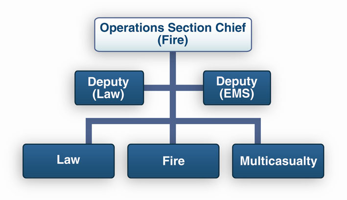 APPENDIX B: INCIDENT COMMAND SYSTEM Figure B-3. Deputy Operations With Functional Branch Structure 3.