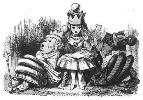 Queen Alice and gently stroking it: she means well, but she can t help saying foolish things, as a general rule.