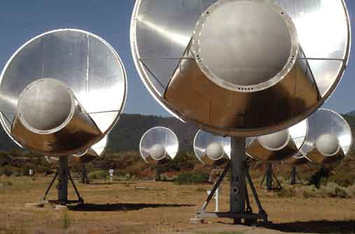 Exoplanet Primer SETI SETI, the Search for ExtraTerrestrial Intelligence, uses radio telescopes to listen for radio signals that may have been sent from intelligent aliens.