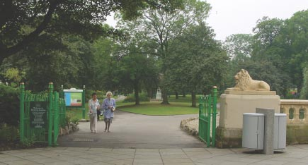 Ownership An attractive gated entrance to Mowbray Park, Sunderland, which is closed
