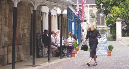 Town centres Street cafes put eyes on the street. Outcome The improvements have reinforced a strong community feel in the town centre.