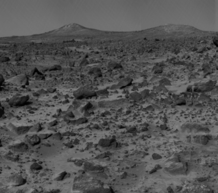 Appendix I Image 8. The view from Pathfinder toward Twin Peaks. Scale: The Twin Peaks are about 1 km away and are about 50 m tall. http://spacelink.nasa.gov/products/mars.exploration/image08peaks.