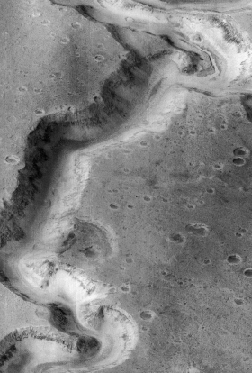 Appendix I Image 11. The Nanedi Vallis. Scale: The image size is 9.8 by 15 km, and the canyon is about 2.5 km wide. http://spacelink.nasa.gov/products/mars.exploration/image11nanedi.