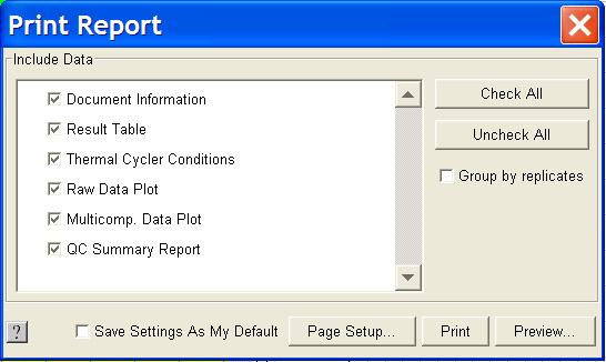 Chapter 4 Creating RQ Plates and Generating Data Post-Analysis Options 3. Complete the Save dialog box: a. In the Save in field, navigate to and select a directory for the new file. b. In the File name field, type a name for the new file.
